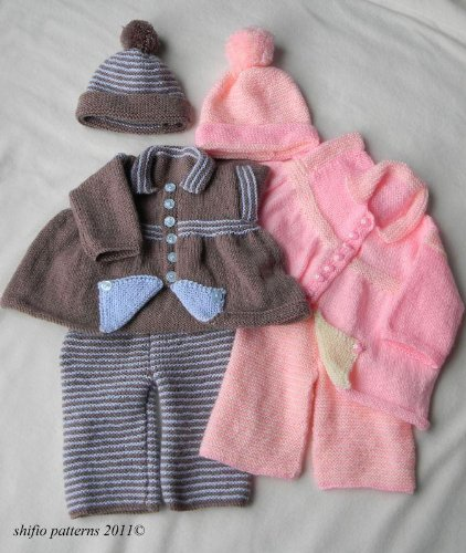 178 Flip Pram Set Knitting Pattern 178