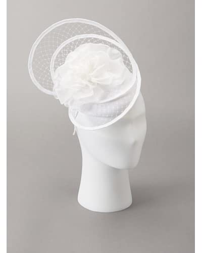Giovannio Women's Floral Cage Veil Fascinator Headband, White