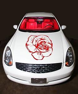 Car Hood Vinyl Sticker Beautiful Rose Flower OS160