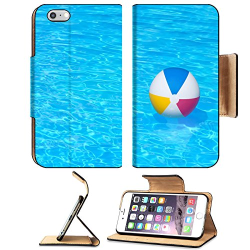 MSD Apple iPhone 6 Plus iPhone 6S Plus Flip Pu Leather Wallet Case Inflatable colorful ball floating in a swimming pool IMAGE 24181082