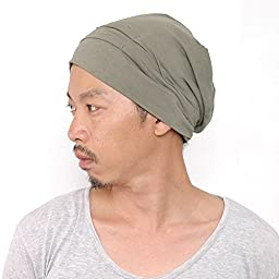 Casualbox Mens Womens Slouch Beanie Hat Beret Japan Fashion Stretch Elastic KhakiGray