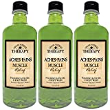 Village Naturals Therapy Aches and Pains Muscle Relief Foaming Bath Oil and Body Wash 16oz (3-pack)