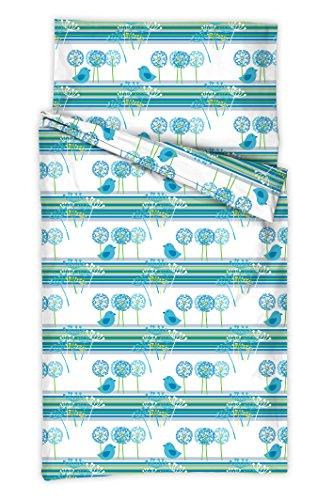 Kindertraum 5212531 Kinderbettwäsche Pusteblume, Design 125, 40 x 60 cm und 100 x 135 cm