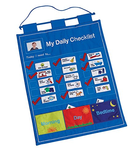 My Daily Checklist - Children's Fabric Chore Chart by One Step Ahead (Toddlers Responsibility Chart compare prices)