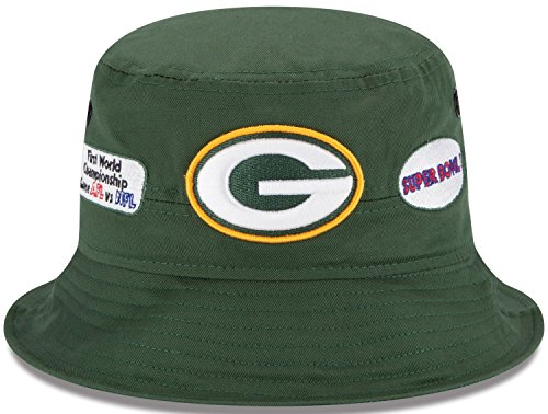 Green Bay Packers New Era NFL Super Bowl Champion Logo's Bucket Hat (Green Bay Super Bowl Hat compare prices)