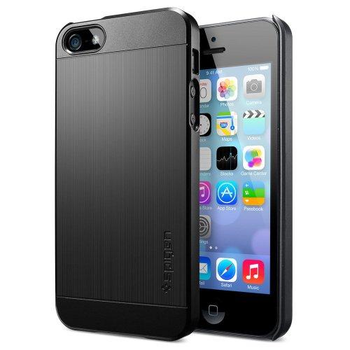 国内正規品SPIGEN SGP iPhone5/5S ケース ウルトラ フィットS ECO-Friendly Packaging [スムース・ブラック]SGP10310