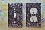 SET OF CHUNKY MULTI COLOR Glitter Switch Plate Outlet Covers ALL Styles Available!