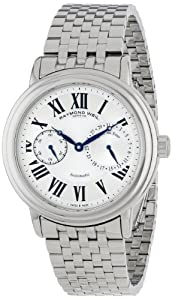 Raymond Weil Men's 2846-ST-00659 Maestro Stainless Steel Case and Bracelet Automatic Silver Dial Watch