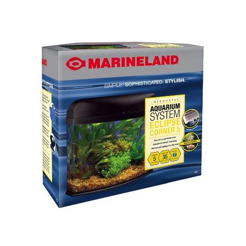 Marineland Eclipse Seamless Integrated Aquarium System, 5 Gallons, Corner