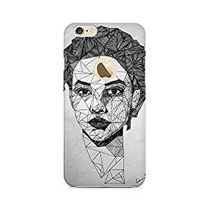 Mobicture Illustrated Girl Premium Printed Case For Apple iPhone 6/6s with hole