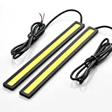 2 pcs Set Waterproof Aluminum High Power 6W 6000K Xenon White Slim COB LED DRL Daylight Driving Daytime Running Light Lamp For Car SUV Sedan Coupe Vehicle