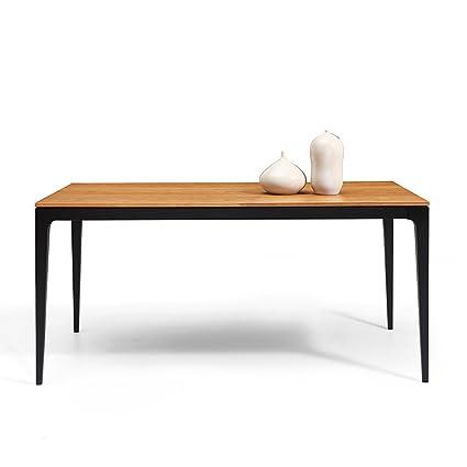 Table de Repas Vintage Scandinave noire et bois Dewarens Toss
