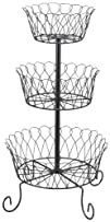METAL 3-TIER WIRE BASKET PRODUCE RACK…
