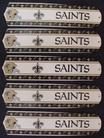 Ceiling Fan Designers 52SET-NFL-NOS NFL Orleans Saints Football 52 In. Ceiling Fan Blades Only at Amazon.com