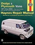 Haynes Dodge & Plymouth Vans 1971-2003 (Haynes Manuals)