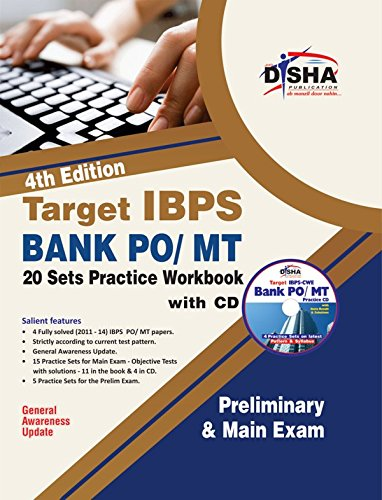 Target IBPS Bank Preliminary & Main PO/MT Exam 20 Sets Practice Workbook with SYNC-ABLE CD (Old Edition)