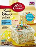 Betty Crocker Supermoist Cake Mix, Rainbow Chip, 15.25-Ounce (Pack of 6)