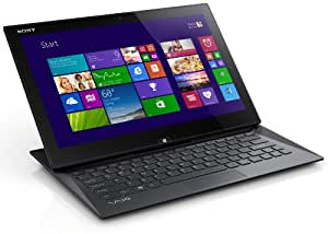 Sony VAIO Duo SVD1321M9EB 33,8 cm (13,3 Zoll Touch) Convertible Ultrabook (Intel Core i5 4200U, 1,6GHz, 4GB RAM, 128GB SSD, Intel HD 4400, 3G/HSPDA, NFC, Win 8 Pro) schwarz