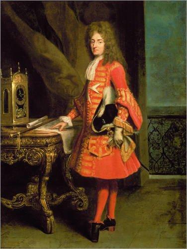 Alu Dibond 100 x 130 cm: Portrait of a Cavalier von Robert Tournieres / Bridgeman Images