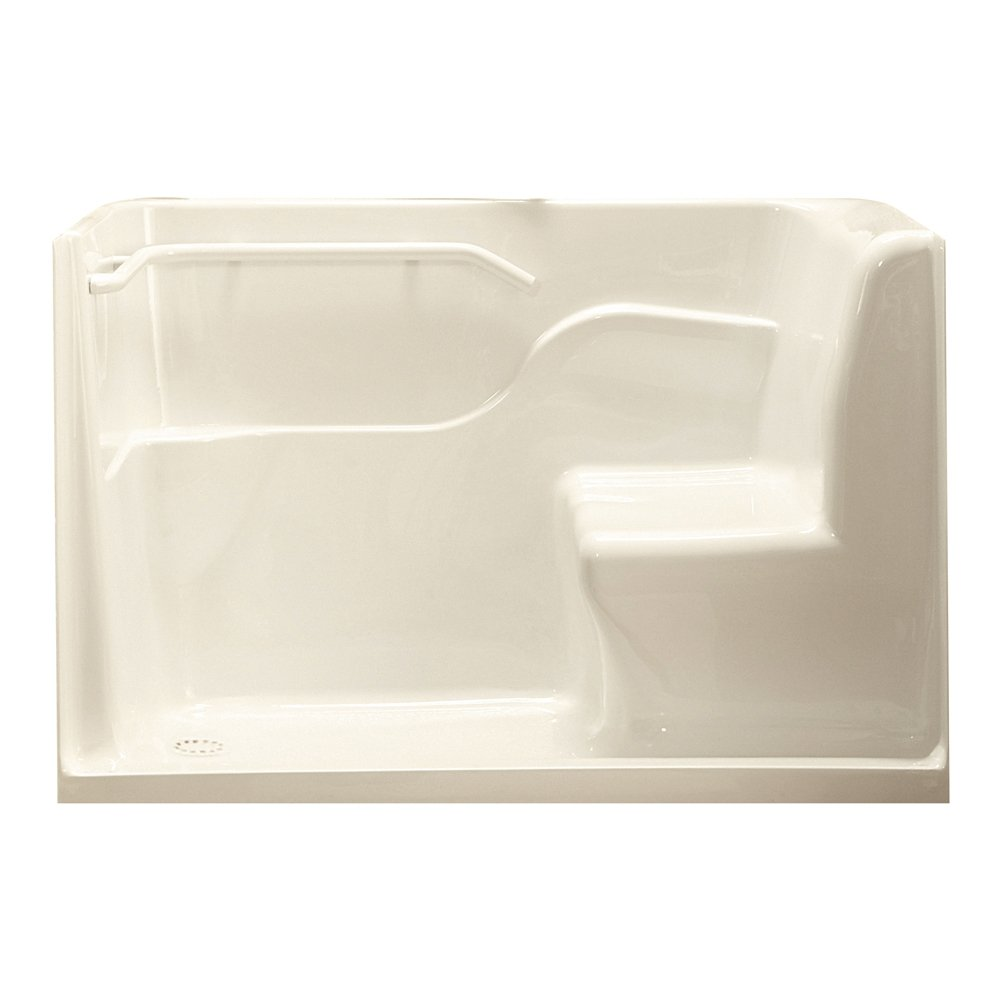 American Standard 3060SH.LL 30-Inch By 60-Inch By 37-Inch Seated Shower with Drain, Linen, Left Hand