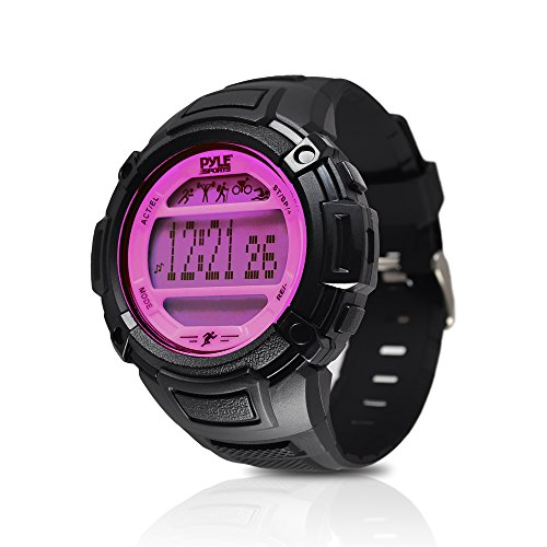 Pyle PAST44PN Multi-Function Sleep Monitor/Pedometer Step Counter/LED Backlight Sports Wrist Watch