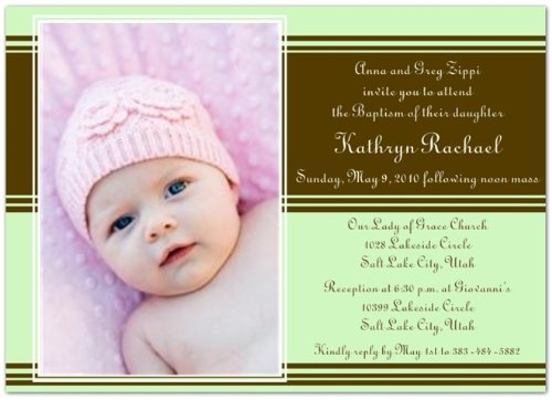 Baptism Invitations Photo front-271661