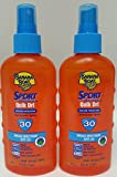 Banana Boat Sport Performance Sunscreen Quick Dry Sport Performance Spray SPF30 6 oz (Pack of 2)