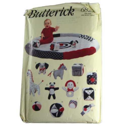 Butterick 6822 Sewing Pattern Educational Baby Toys Size One