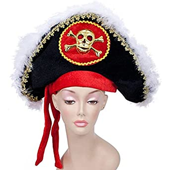 Jacobson Hat Company Men's Pirate with Gold Skull and Crossbones