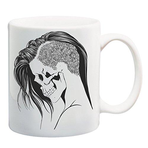 Skull Woman Portrait T-Shirt Mug