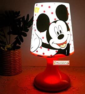 Double Function Mickey Minnie Mouse Twilight Night Light Kid Sleep Led Bed Lamp Small from Disney