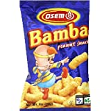Osem Bamba Snacks, Peanut Flavored, 1-Ounce Packages (Pack of 24)