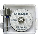 Dremel EZ406 1 1/2-Inch EZ Lock Rotary Tool Cut-Off Wheel and Mandrel Metal Cutting Starter Kit ~ Dremel