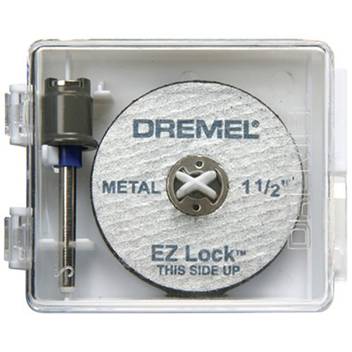 Dremel EZ406 1 1/2-Inch EZ Lock Rotary Tool Cut-Off Wheel and Mandrel Metal Cutting Starter Kit