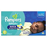 Pampers Baby Dry Extra Protection Diapers Super Pack, Size 3, (Paquete de unidades)