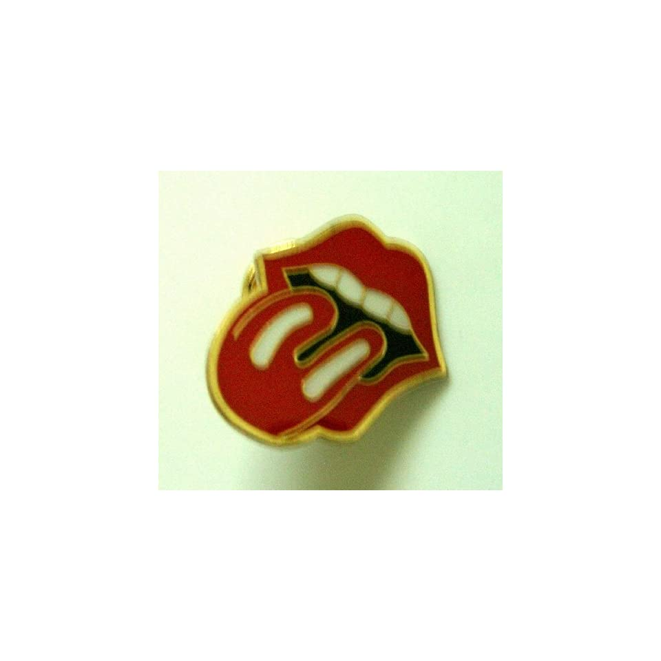 Rolling Stone Tongue Metal Pin Badge ~LOOK~ Everything