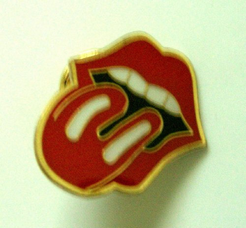 Rolling Stone Tongue Metal Pin Badge ~LOOK~