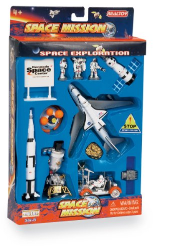 Space Mission 16 Piece set w/ Kennedy Space Center Sign