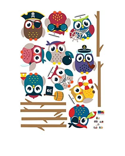 Ambiance-sticker Vinile Decorativo Pirates Owls On Branch