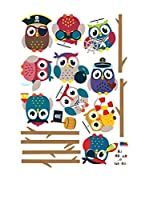 ZZ-Ambiance-sticker Vinilo Decorativo Pirates Owls On Branch