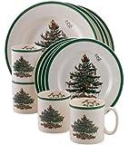 Spode Christmas Tree 12-Piece Dinnerware Set, Service for 4