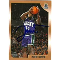 Robert Traylor Autographed Hand Signed Basketball Card (Milwaukee Bucks) 1999 Topps... by Hall of Fame Memorabilia