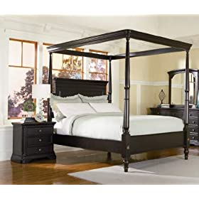sahara california king canopy bed with night stand