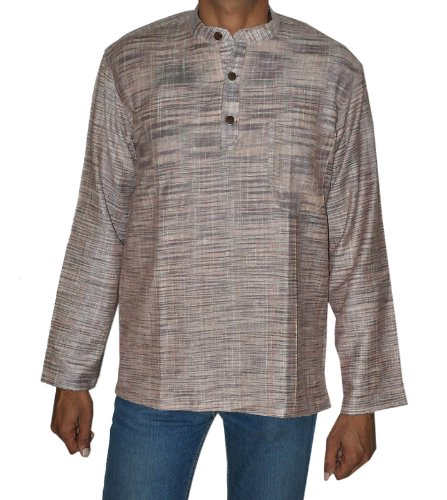 Designed Hand Made Casual Khadi Short Mens Kurta Size M