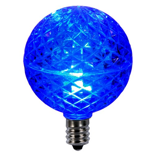 E12 Led Walmart: Club Pack Of 25 LED G50 Blue Replacement Christmas Light