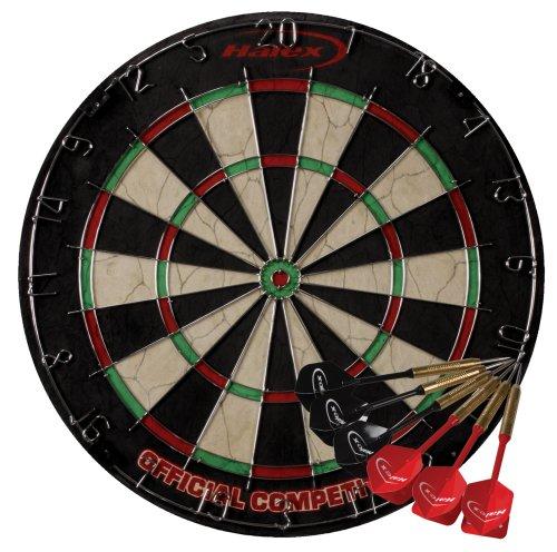 Halex Championship Bristle Dartboard with 6 Darts (Halex Tournament Dart Board compare prices)