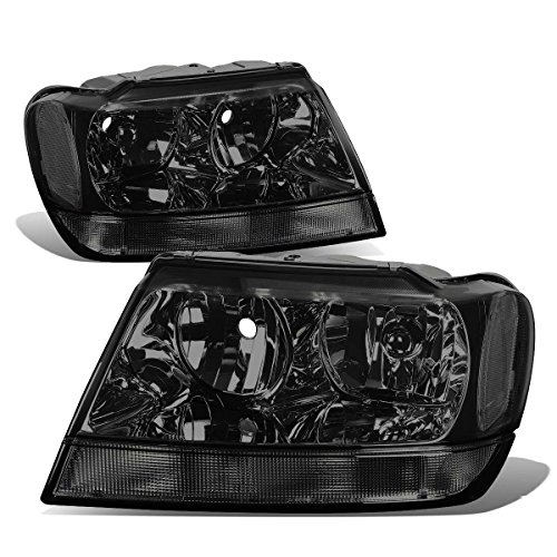 Jeep Grand Cherokee Headlight Lamps Kit (Smoke Lens) - WJ (Jeep Grand Cherokee Bumper compare prices)