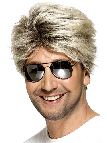Men's 1980s Blonde Street Wig. Perfect for George Michael 1980s style.