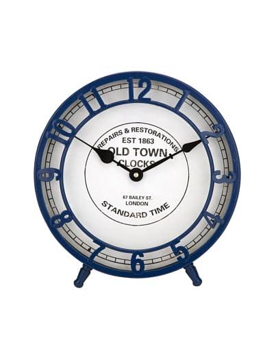 Essentials Face Clock, Marine Blue