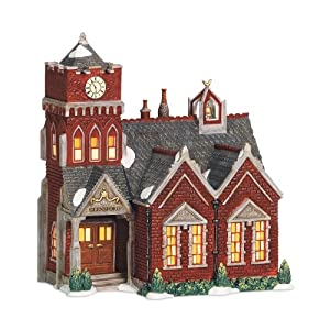 Department 56 Dickens A Christmas Carol Village Lit Miniature Building, Glensford School